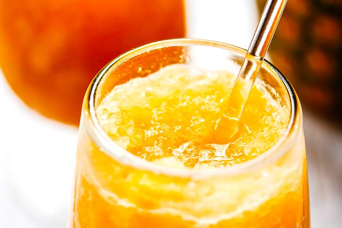 Citrus Tea Slush with Pineapple & Rum