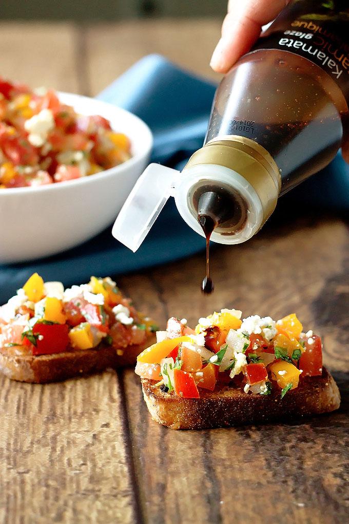 Tomato, Pepper & Basil BruschettaTomato, Pepper & Basil Bruschetta