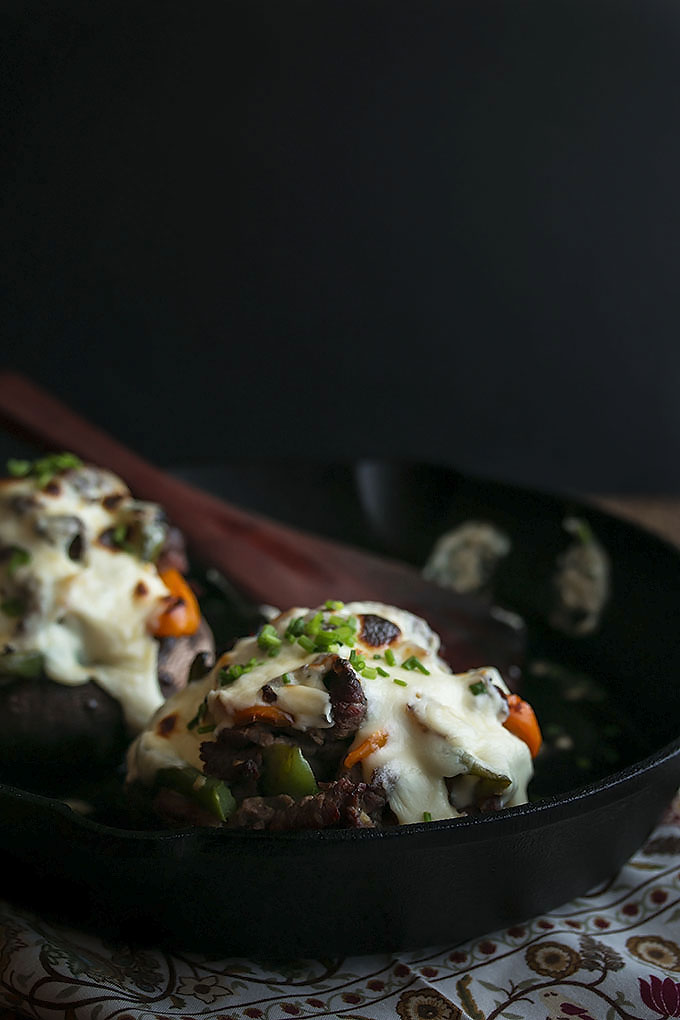 Cheesesteak Stuffed Portobellos (27)