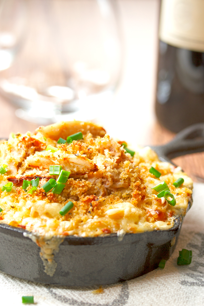 Dungeness Crab Mac and Cheese with Jarlsberg Cheese