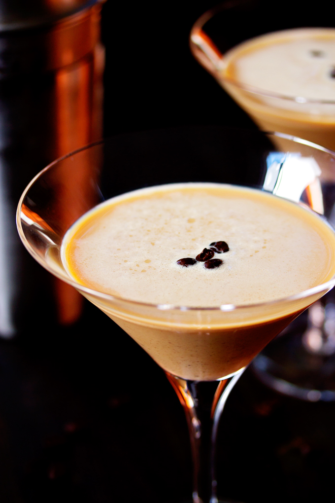 finished Espresso Vodka Martini