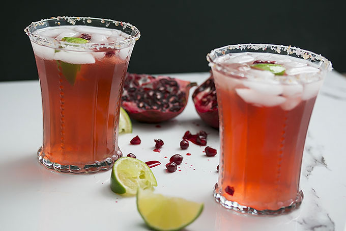 Kombucha Pomegranate Margarita Recipe