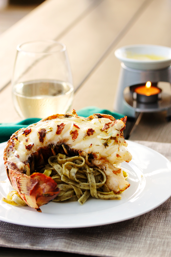 Grilled Lobster with Lemon and Herb Butter