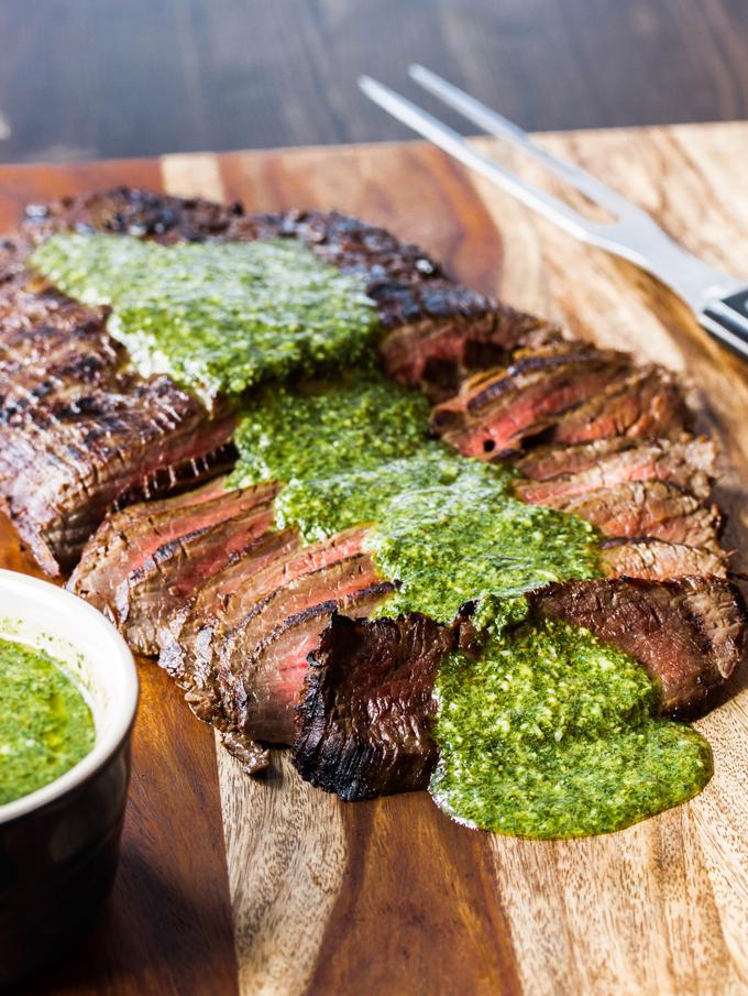 Marinated Flank Steak with Chimichuri