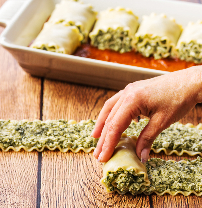 Baked Turkey Pasta Roll Ups